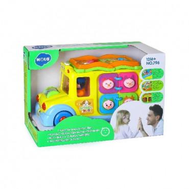 Музична розвиваюча іграшка Hola Toys Шкільний автобус