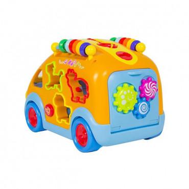 Музичний автобус-сортер Hola Toys з звірятами