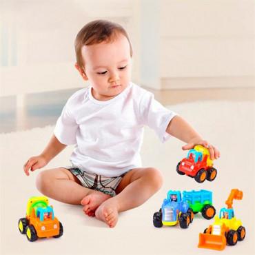 Набір іграшкових машинок Hola Toys Фермерська техніка, 4 шт.