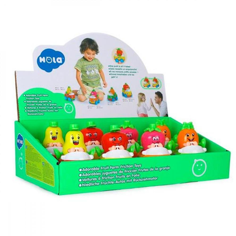 Іграшка Hola Toys Машинка Тутті-Фрутті 8 шт.