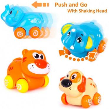 Набор игрушечных машинок Hola Toys Веселый зоопарк, 8 шт.