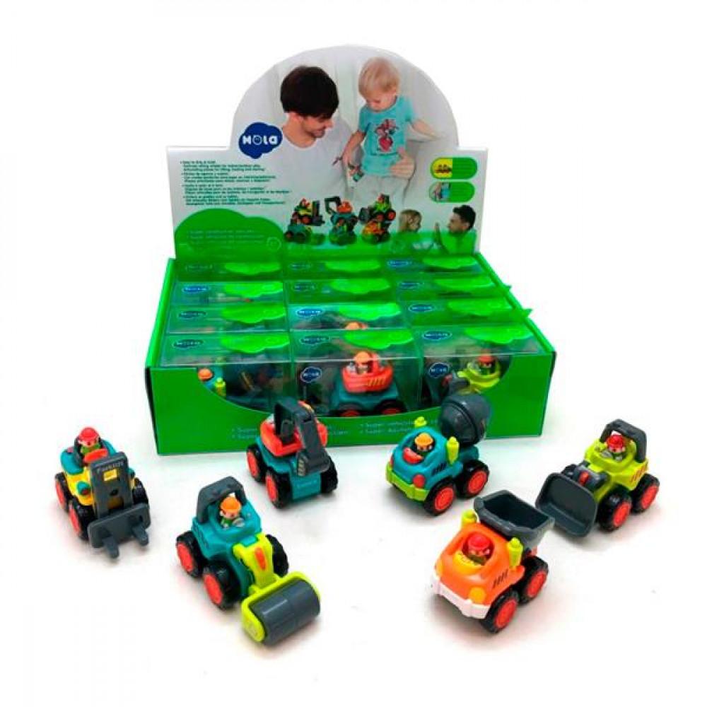 Іграшкова машинка Hola Toys Будівельна техніка, 6 видів в асорт. R