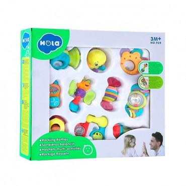 Набор погремушек Hola Toys, 10 шт.