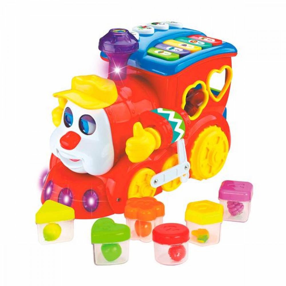 Музична іграшка Hola Toys Паровозик-сортер
