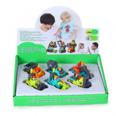 Игрушечная машинка Hola Toys Строительная техника, 6 видов в ассорт.