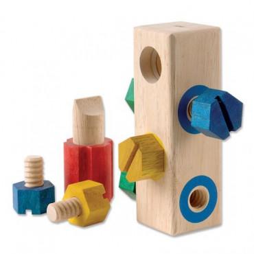 Дерев'яна розвиваюча іграшка Guidecraft Manipulatives Закрути гвинтики