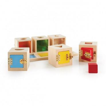 Набір-сортер Guidecraft Manipulatives Коробочки з геометричними фігурами