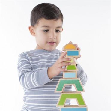 Дерев'яна пірамідка-сортер Guidecraft Manipulatives Чергування і поєднання