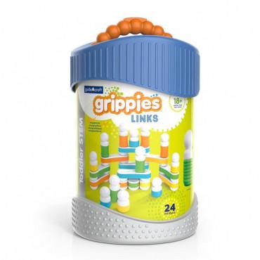 Магнітний конструктор Guidecraft Grippies Links, 24 деталі