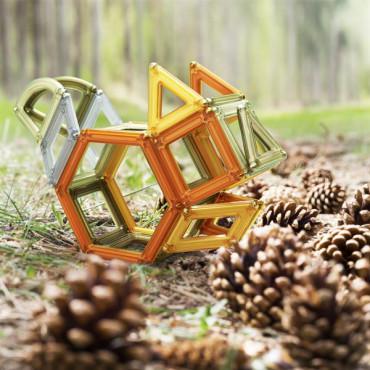 Магнітний конструктор Guidecraft PowerClix Frames Natural, 74 деталі