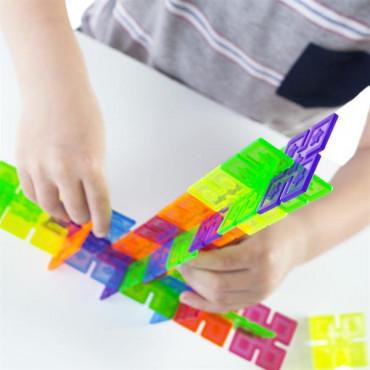 Конструктор Guidecraft Interlox Squares Квадрати, 96 деталей