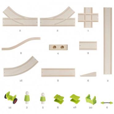 Дерев'яна дорога Guidecraft Block Science Мости світу, 155 деталей