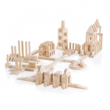 Деревянные кубики Guidecraft Unit Blocks из неокрашенного дерева Геометрические формы, 218 шт.
