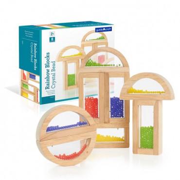 Игровой набор блоков Guidecraft Block Play Бусины, 14 см, 8 шт.