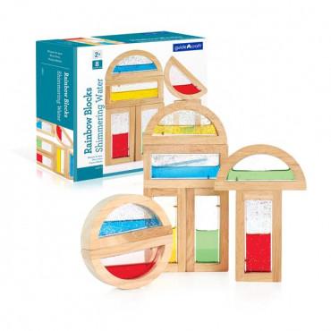 Игровой набор блоков Guidecraft Block Play Цветная вода, 14 см, 8 шт.