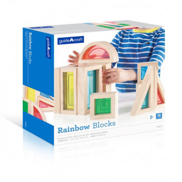 Игровой набор блоков Guidecraft Block Play Большая радуга, 14 см, 10 шт.