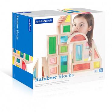 Ігровий набір блоків Guidecraft Block Play Велика веселка, 14 см, 30 шт.