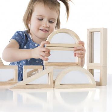 Ігровий набір блоків Guidecraft Block Play Дзеркало, 14 см, 10 шт.
