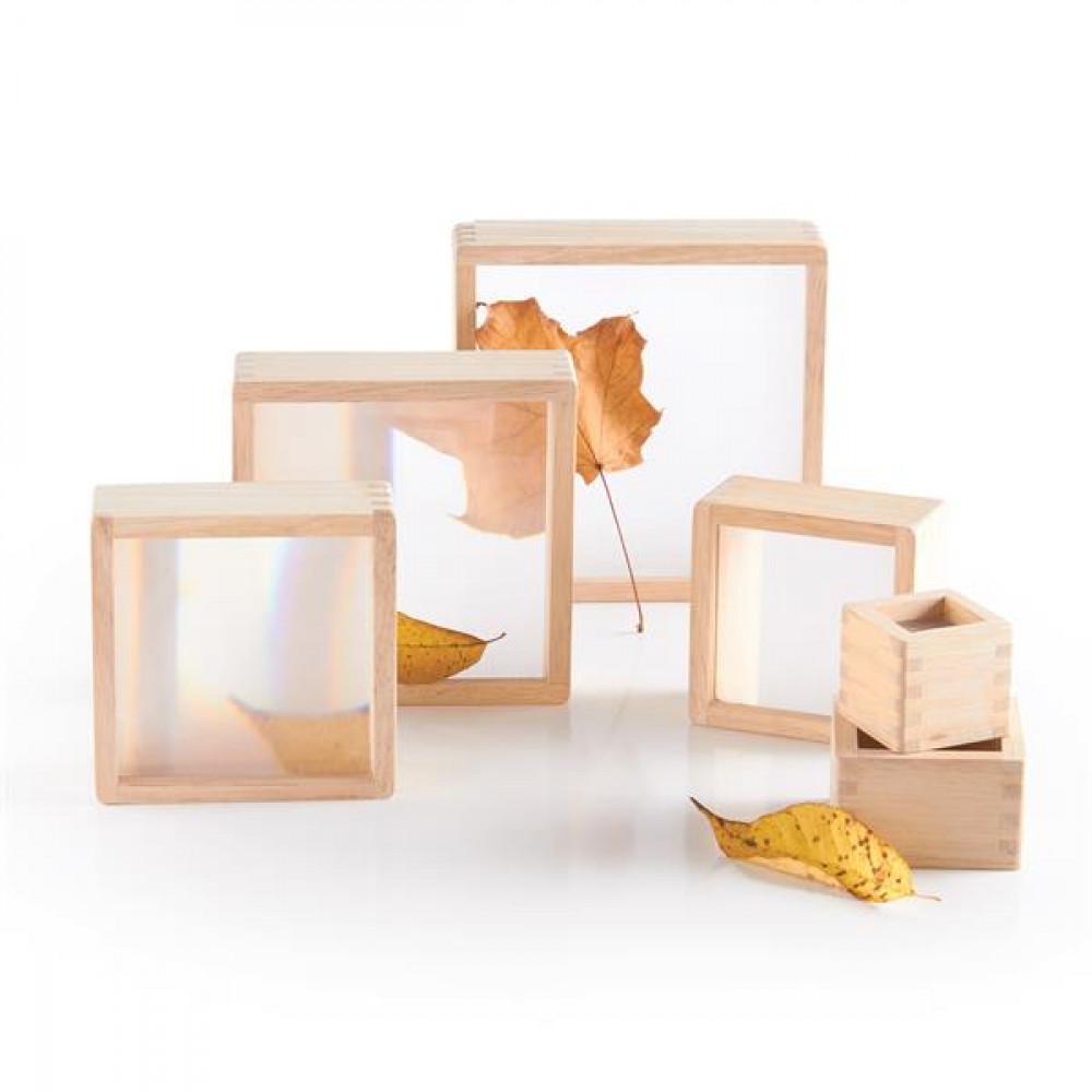 Игровой набор блоков Guidecraft Natural Play Увеличительное стекло, 10 шт.