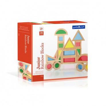 Ігровий набір блоків Guidecraft Block Play Маленька веселка, 5 см, 20 шт.