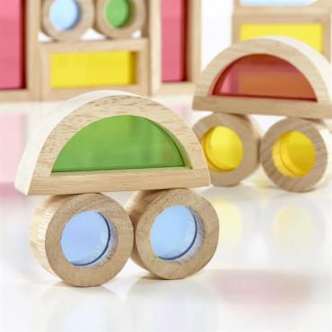 Ігровий набір блоків Guidecraft Block Play Маленька веселка, 5 см, 40 шт.