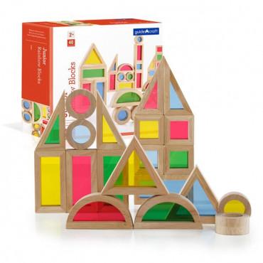 Игровой набор блоков Guidecraft Block Play Маленькая радуга, 5 см, 40 шт.