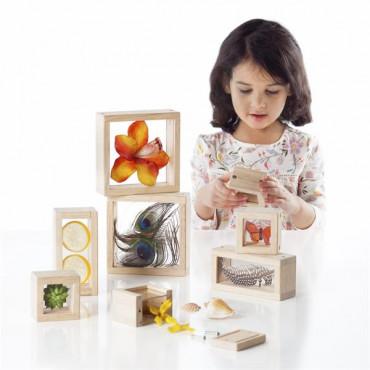 Игровой набор блоков Guidecraft Natural Play Сокровища в прозрачных ящиках
