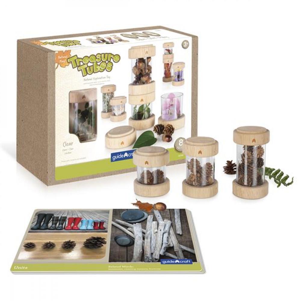 Ігровий набір Guidecraft Natural Play Скарби в прозорих баночках
