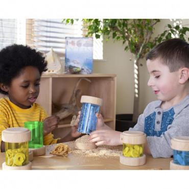 Игровой набор Guidecraft Natural Play Сокровища в цветных баночках