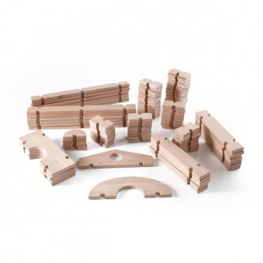 Модульный конструктор Guidecraft Block Play из больших блоков Деревянный городок, 89 шт.