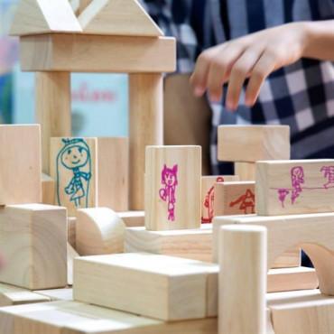 Набор деревянных блоков для рисования Guidecraft Block Play, 50 шт.
