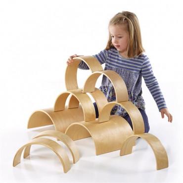 Модульный конструктор Guidecraft Block Play из больших блоков Деревянные арки
