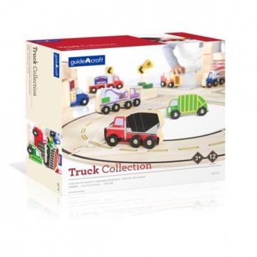 Набор грузовиков Guidecraft Block Play к Дороге из дерева, 12 шт.