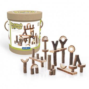 Деревянный игровой набор Guidecraft Natural Play Палки и бруски, 36 шт.