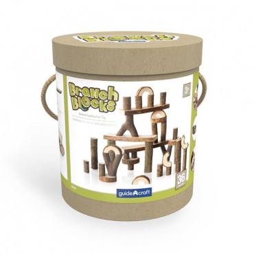 Дерев'яний ігровий набір Guidecraft Natural Play Палиці і бруски, 36 шт.
