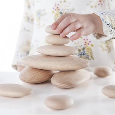 Набір дерев'яних блоків Guidecraft Natural Play Округлі камені
