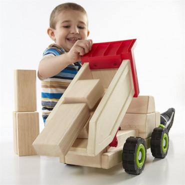 Игрушечная машина Guidecraft Block Science Trucks Большой самосвал