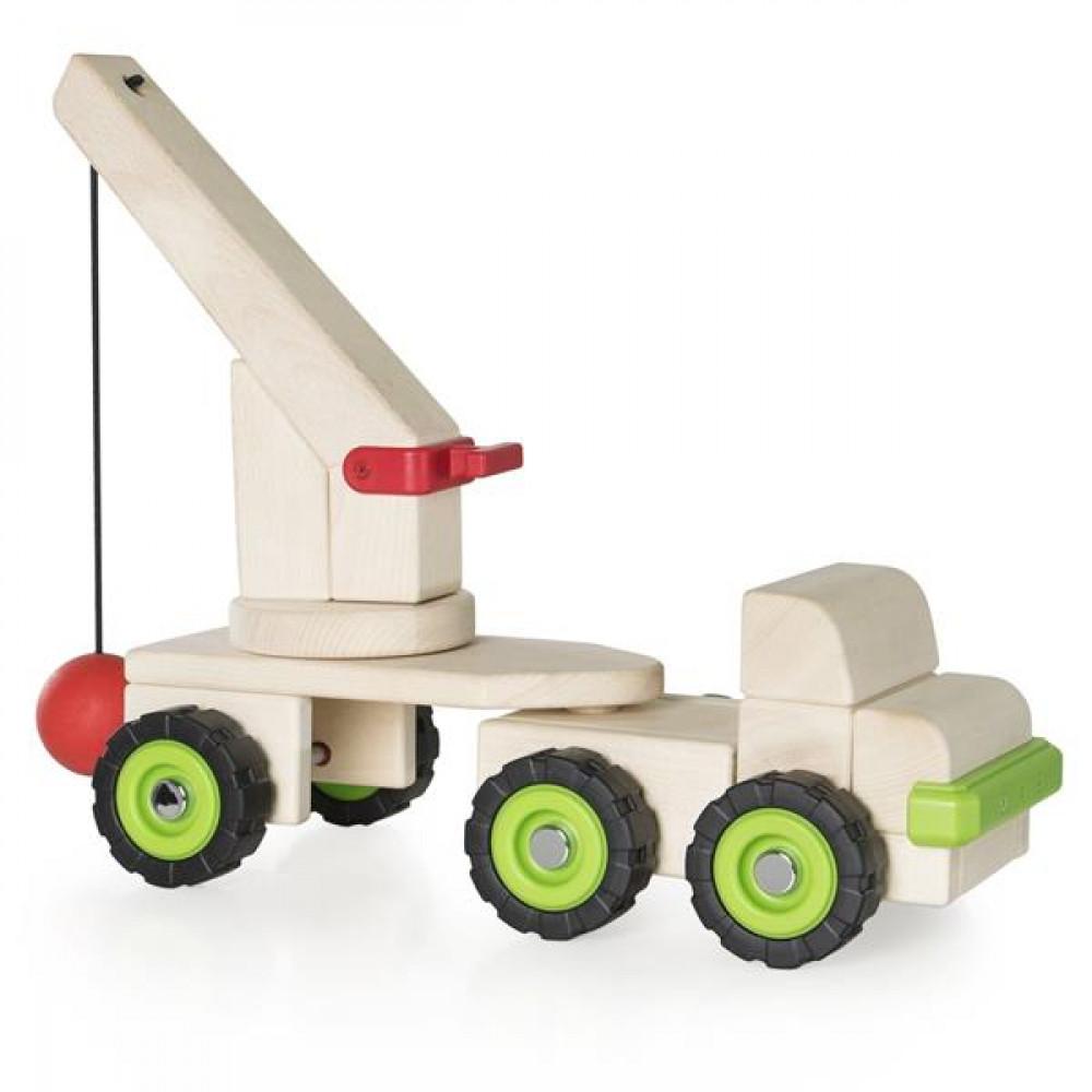 Игрушечная машина Guidecraft Block Science Trucks Большая стенобитная машина