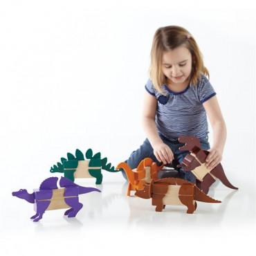 Игровой набор Guidecraft Block Mates Динозавры (без блоков)