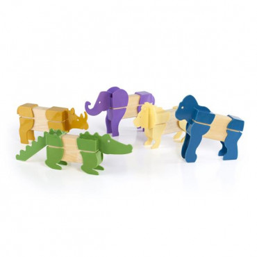 Игровой набор Guidecraft Block Mates Африканские животные (без блоков)