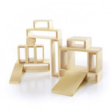 Модульный конструктор Guidecraft Block Play Полые блоки из дерева, 16 шт.