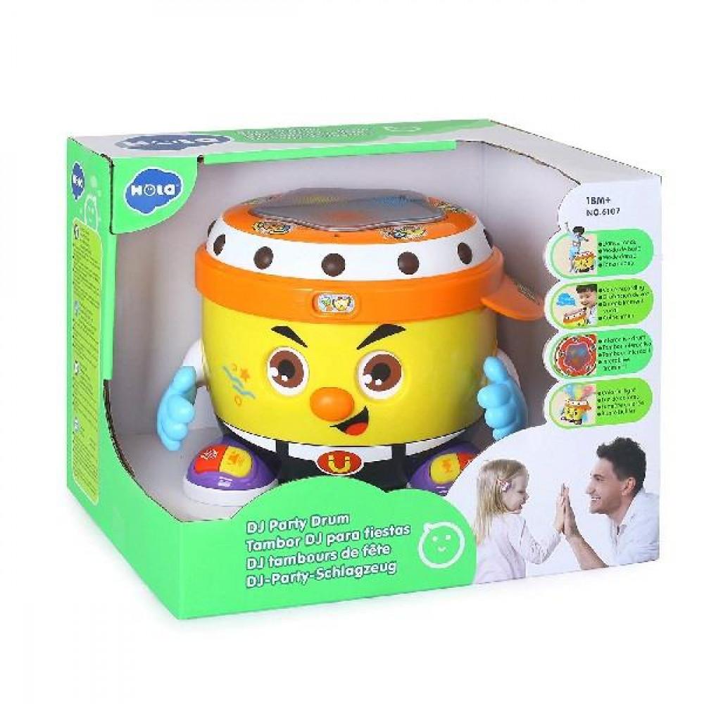 Интерактивная музыкальная игрушка Hola Toys Веселый барабан