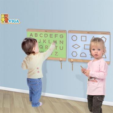 Деревянная доска Viga Toys Написание заглавных букв