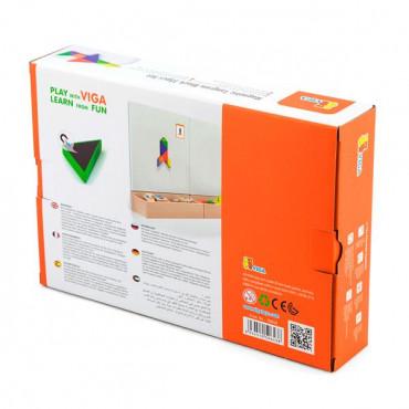 Игра-головоломка Viga Toys Магнитный танграм, 35 эл.