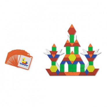 Геометрическая мозаика Viga Toys на магнитах с карточками, 102 эл.