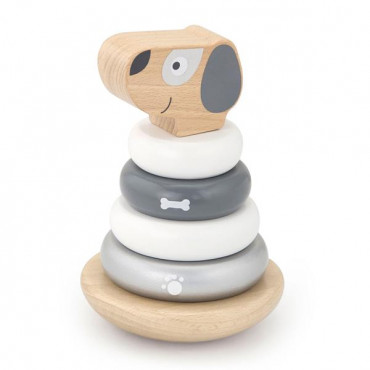 Деревянная пирамидка Viga Toys Собачка, неваляшка