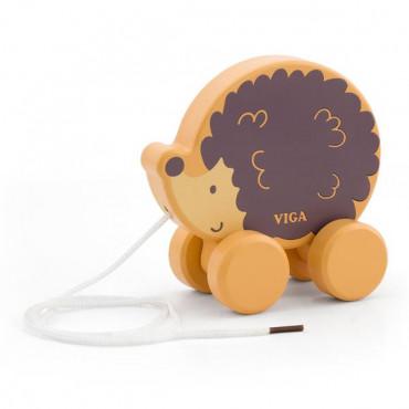 Деревянная каталка Viga Toys PolarB Ежик