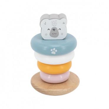 Деревянная пирамидка Viga Toys PolarB Белый мишка, неваляшка
