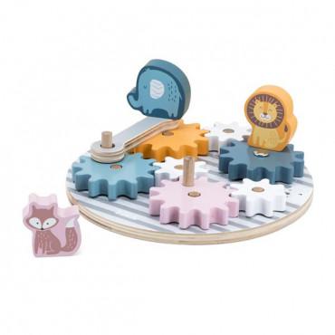 Дерев'яний ігровий набір Viga Toys PolarB Шестерінки зі звірятами