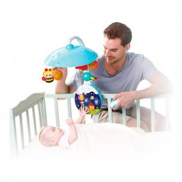Музичний мобіль на ліжечко Hola Toys з проектором і пультом